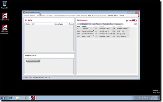 bnworx call assistant allworx virtual machine full screen
